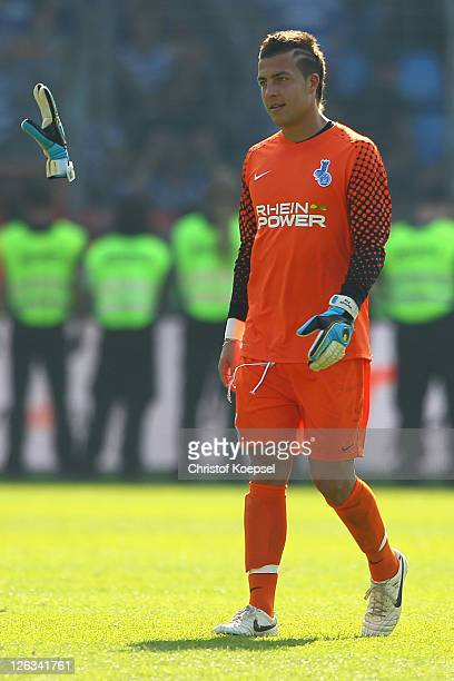 Florian Fromlowitz of Duisburg look dejected after losing 1-2 the Second Bundesliga match between VfL Bochum and MSV Duisburg at Rewirpower stadium...
