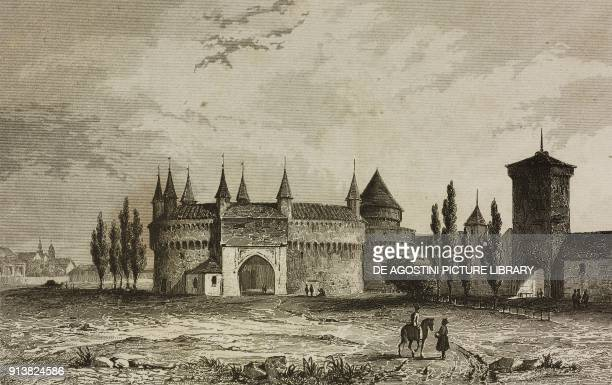 Florian Gate Krakow Poland engraving by Lemaitre and Arnout from Pologne by Charles Foster L'Univers pittoresque Europe published by Firmin Didot...