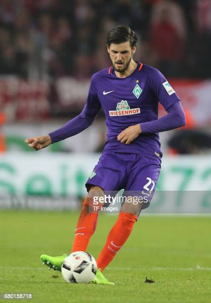 Florian Grillitsch of Bremen controls the ball during to the Bundesliga match between 1 FC Koeln and Werder Bremen at RheinEnergieStadion on May 5...