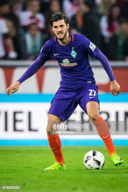 Florian Grillitsch of Bremen in action during the Bundesliga match between 1 FC Koeln and Werder Bremen at RheinEnergieStadion on May 5 2017 in...