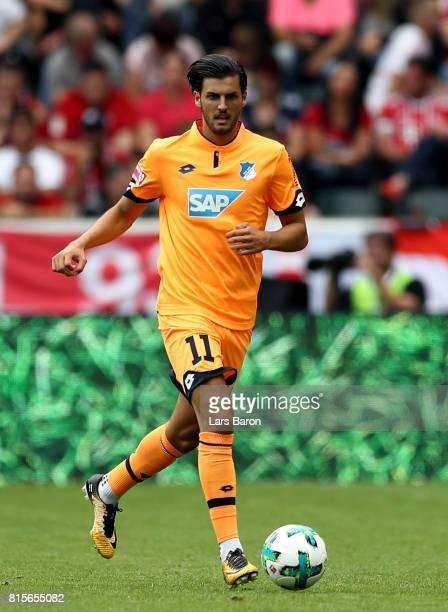 Florian Grillitsch of Hoffenheim runs with the ball during the Telekom Cup 2017 3rd place match between Borussia Moenchengladbach and TSG Hoffenheim...