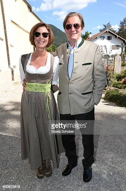 Florian Haffa and his wife Gabriele Haffa during the wedding of Marianne and Michael Hartl at St Laurentius church on September 8 2016 in...
