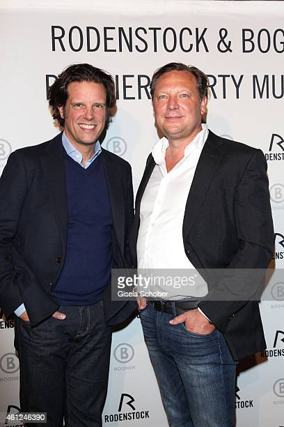 Florian Haller Director Serviceplan Oliver Kastalio CEO Rodenstock during the Rodenstock Bogner premiere party at P1 on January 9 2015 in Munich...