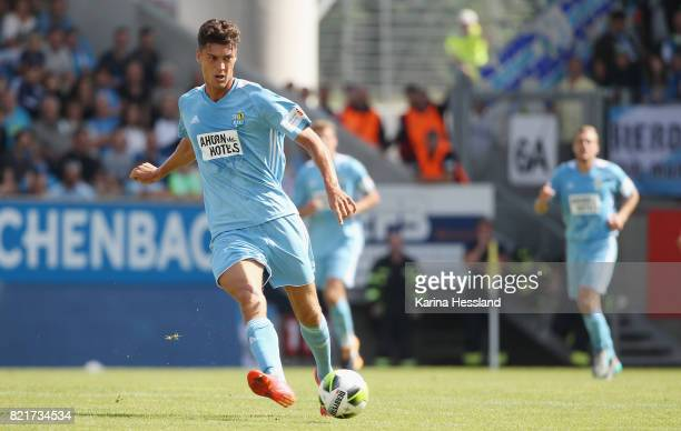 Florian Hansch of Chemnitz during the 3Liga match between Chemnitzer FC and FSV Zwickau at community4you Arena on July 23 2017 in Chemnitz Germany