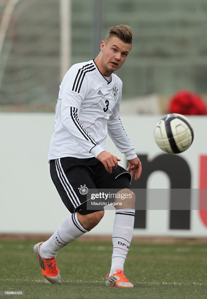 Florian Harterz of Germany during U20 International Friendly match between Italy and Germany at Stadio Cosimo Puttilli on February 6, 2013 in Barletta, Italy.