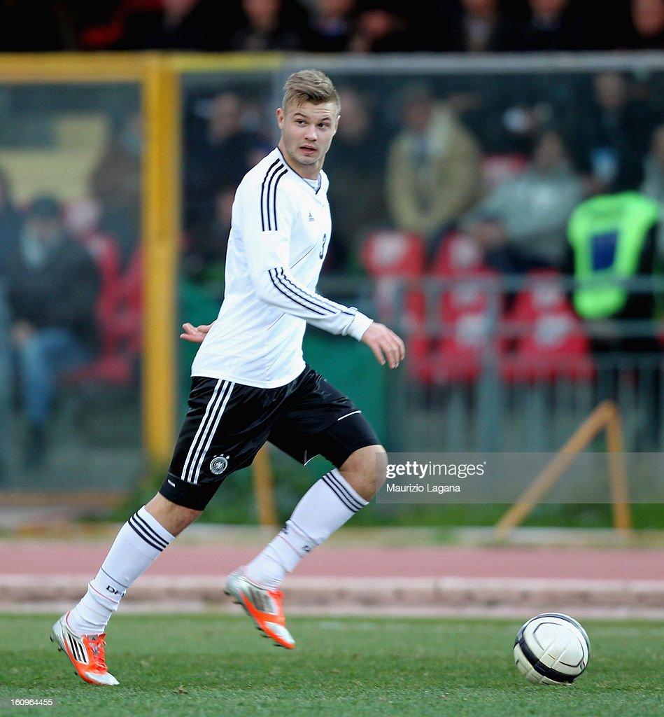 Florian Hartherz of Germany during U20 International Friendly match between Italy and Germany at Stadio Cosimo Puttilli on February 6, 2013 in Barletta, Italy.