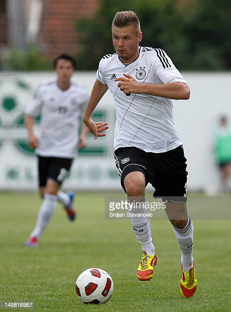 Florian Hartherz of Germany in action during the U19 Hungary v U19 Germany Elite Round match at Slana Bara stadium on May 30 2012 in Novi Sad Serbia