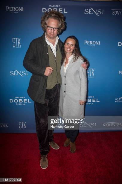 Florian Henckel von Donnersmarck and Christiane Asschenfeldt attend the Sony Pictures Classics' Annual PreAcademy Awards Dinner Party at STK Los...