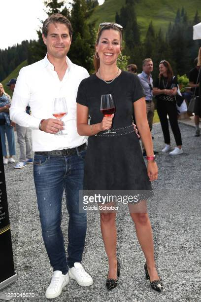 """Florian Hermanns and Sandra Brogle during the first Ladies Day and start of the """"Queens Club"""" hosted by Maria Hoefl-Riesch on June 26, 2020 at..."""