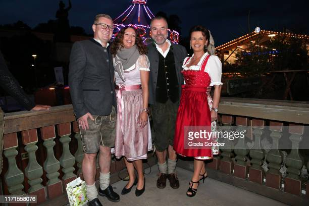 Florian Hoeness and his wife Sabine Hoeness, Clemens Toennies and his wife Margit Toennies during the Oktoberfest 2019 at Kaeferschaenke beer tent...