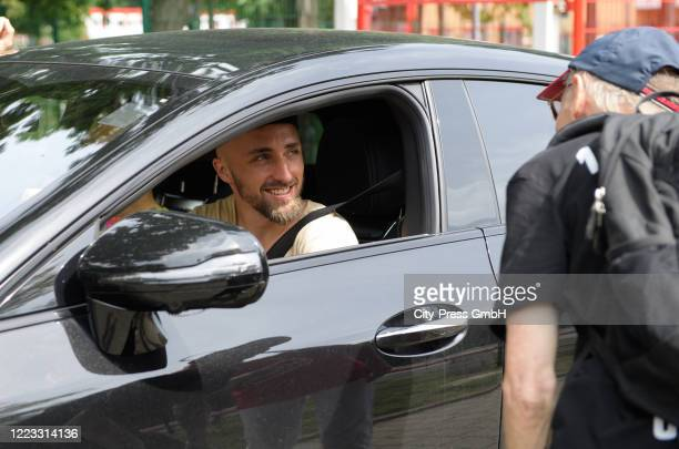 Florian Huebner of 1 FC Union Berlin before the Final Press Conference on June 28, 2020 in Berlin, Germany.