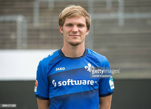 Florian Jungwirth poses during the Darmstadt 98 Team Presentation on August 11 2016 in Darmstadt Germany