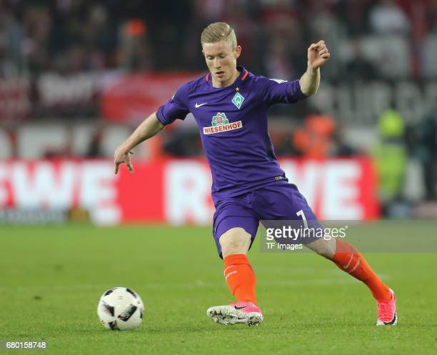 Florian Kainz of Bremen controls the ball during to the Bundesliga match between 1 FC Koeln and Werder Bremen at RheinEnergieStadion on May 5 2017 in...