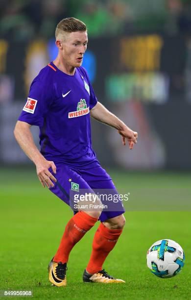 Florian Kainz of Bremen in action during the Bundesliga match between VfL Wolfsburg and SV Werder Bremen at Volkswagen Arena on September 19 2017 in...