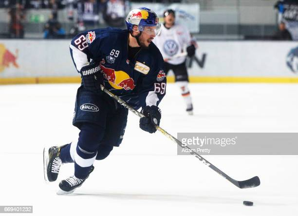 Florian Kettenmer of Muenchen in action during the DEL PlayOffs Final Match 5 between EHC Muenchen and the Grizzlys Wolfsburg at Olympia Eisstadion...