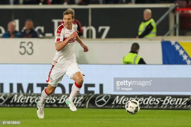 Florian Klein of Stuttgart controls the ball during the Second Bundesliga match between VfB Stuttgart and 1 FC Union Berlin at MercedesBenz Arena on...