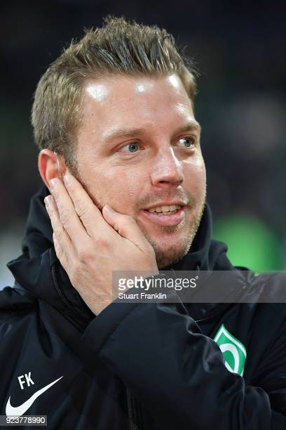 Florian Kohfeldt coach of Bremen looks on before the Bundesliga match between SV Werder Bremen and Hamburger SV at Weserstadion on February 24 2018...