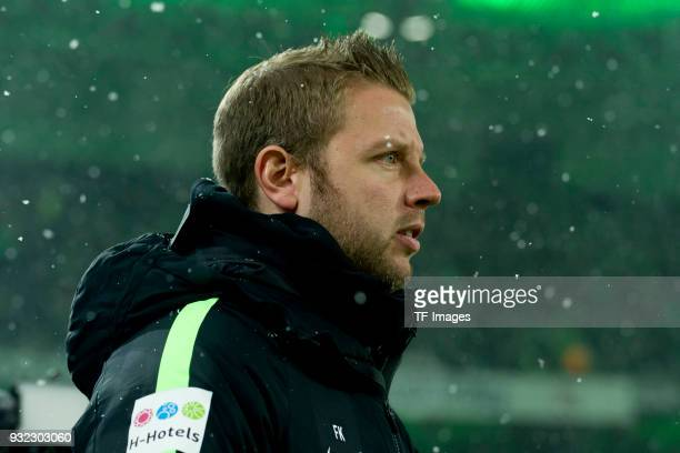 Florian Kohfeldt coach of Bremen looks on prior to the Bundesliga match between Borussia Moenchengladbach and SV Werder Bremen at BorussiaPark on...