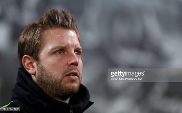 Florian Kohfeldt head coach of Bremen looks on before the Bundesliga match between Bayer 04 Leverkusen and SV Werder Bremen at BayArena on December...
