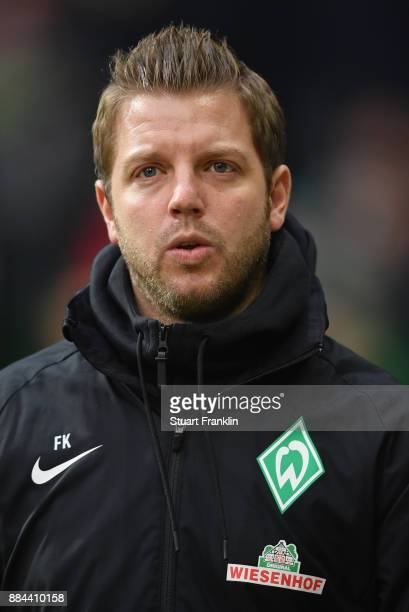 Florian Kohfeldt head coach of Bremen looks on during the Bundesliga match between SV Werder Bremen and VfB Stuttgart at Weserstadion on December 2...