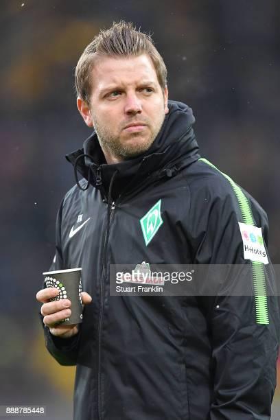 Florian Kohfeldt head coach of Bremen with coffee in his hand before the Bundesliga match between Borussia Dortmund and SV Werder Bremen at Signal...