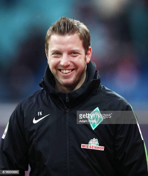 Florian Kohfeldt head coach of Werder Bremen before the Bundesliga match between RB Leipzig and SV Werder Bremen at Red Bull Arena on November 25...