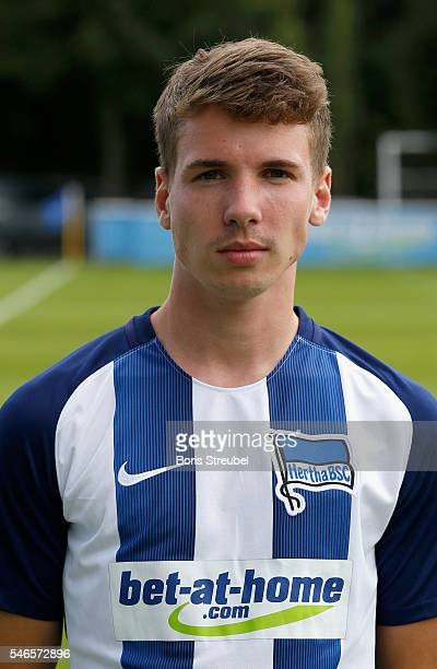 Florian Kohls of Hertha BSC poses during the Hertha BSC Team Presentation on July 12 2016 in Berlin Germany
