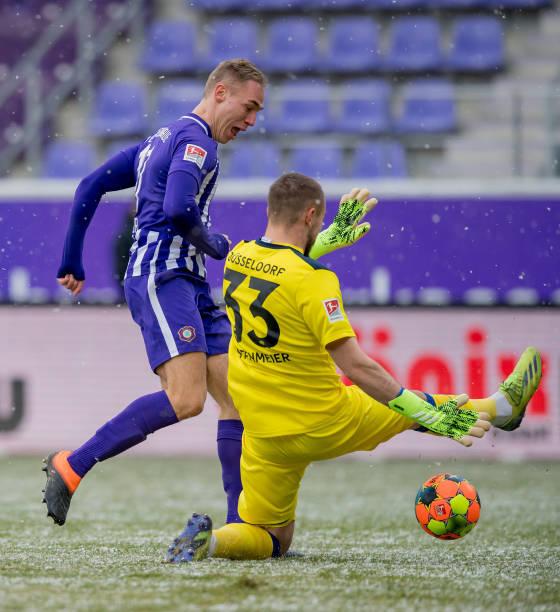 DEU: FC Erzgebirge Aue v Fortuna Düsseldorf - Second Bundesliga
