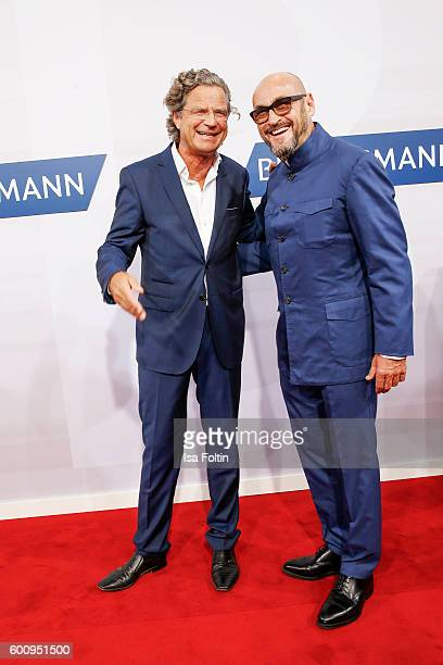 Florian Langenscheidt and Jochen Schweizer attend the Bertelsmann Summer Party at Bertelsmann Repraesentanz on September 8 2016 in Berlin Germany
