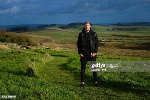 Florian Lejuene poses for photographs during a Portrait Session at Hadrians Wall on October 26 in Newcastle upon Tyne England Florian Lejeune