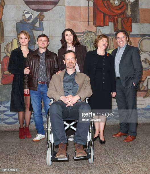 Florian Lukas Joerg Hartmann Joerg Hartmann Ruth Reinecke Lisa Wagner and Claudia Mehnert at the photo call for the new season of the television show...