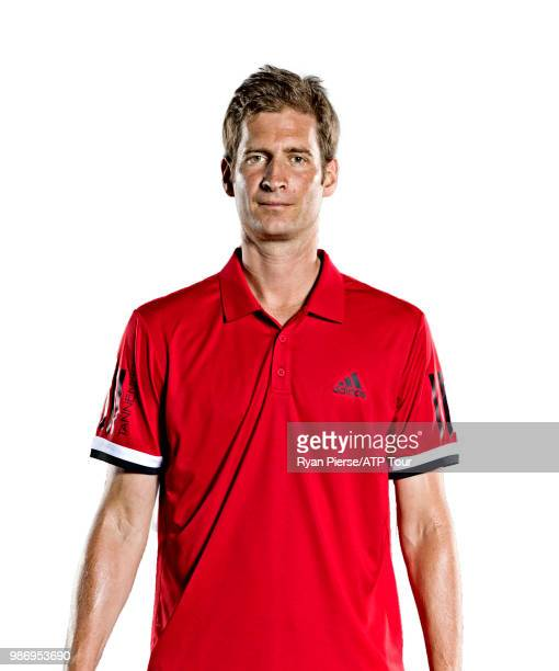 Florian Mayer of Germany poses for portraits during the Australian Open at Melbourne Park on January 13 2018 in Melbourne Australia