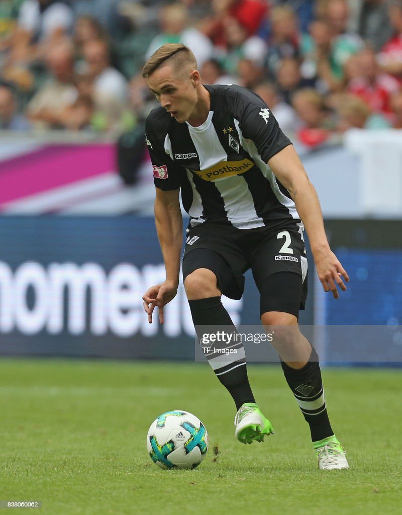 Florian Mayer of Moenchengladbach controls the ball during the Telekom Cup 2017 3rd place match between Borussia Moenchengladbach and TSG Hoffenheim at Borussia Park on July 15, 2017 in Moenchengladbach, Germany.