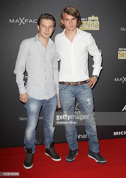 Florian Moerth and Jacob Burda attend at the Michalsky Style Nite during the Mercedes-Benz Fashion Week Spring/Summer 2011 on July 9, 2010 in Berlin,...