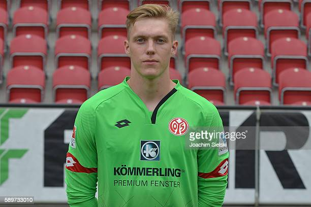 Florian Mueller poses during the official team presentation of 1 FSV Mainz 05 at Opel Arena on July 25 2016 in Mainz Germany