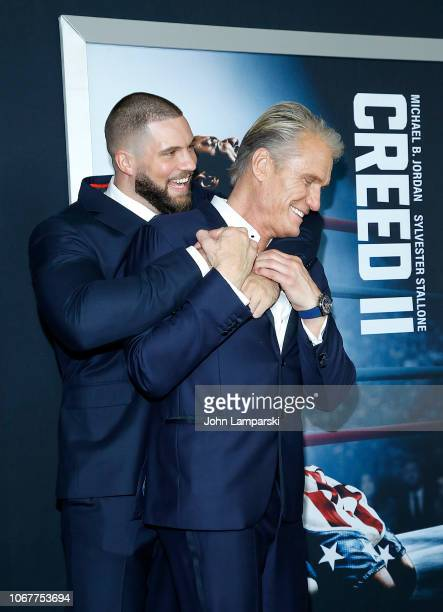 Florian Munteanu and Dolph Lundgren attend Creed II New York Premiere at AMC Loews Lincoln Square on November 14 2018 in New York City