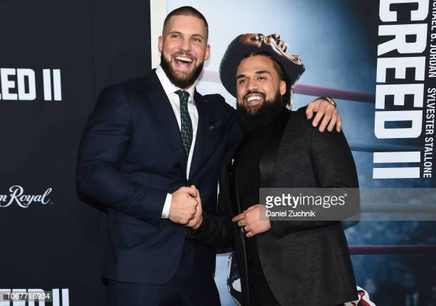 Florian Munteanu and Steven Caple Jr attend the 'Creed II' New York Premiere at AMC Loews Lincoln Square on November 14 2018 in New York City