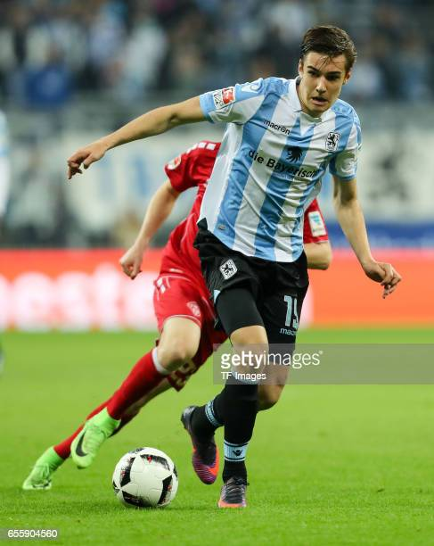 Florian Neuhaus of 1860 Munich controls the ball during the Second Bundesliga match between TSV 1860 Muenchen and FC Wuerzburger Kickers at Allianz...