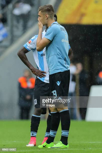 Florian Neuhaus of 1860 Munich looks dejected during the Second Bundesliga match between TSV 1860 Muenchen and VfL Bochum at Allianz Arena on May 14...