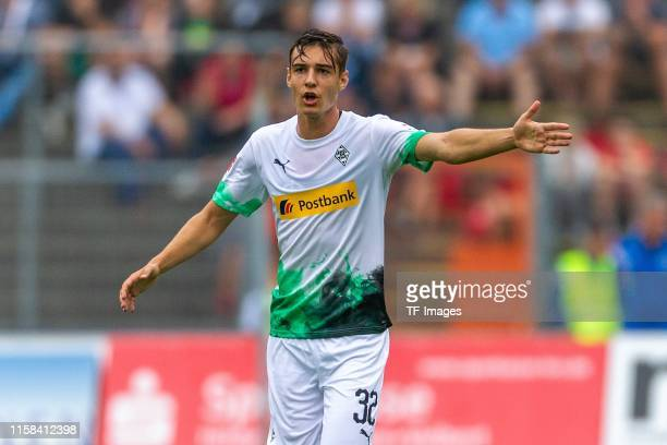 Florian Neuhaus of Borussia Moenchengladbach gestures during the preseason friendly match between Borussia Moenchengladbach and Athletic Bilbao on...