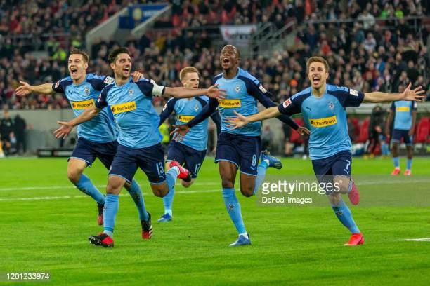 Florian Neuhaus of Borussia Moenchengladbach Lars Stindl of Borussia Moenchengladbach Oscar Wendt of Borussia Moenchengladbach Denis Zakaria of...