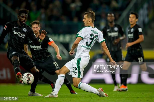Florian Neuhaus of Borussia Moenchengladbach with his assist before Thorgan Hazard scores his teams second goal during the Bundesliga match between...