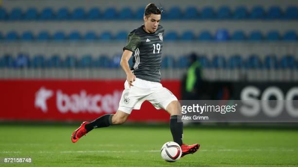 Florian Neuhaus of Germany controls the ball during the UEFA Under21 Euro 2019 Qualifier match between Azerbaijan U21 and Germany U21 at Dalga Arena...