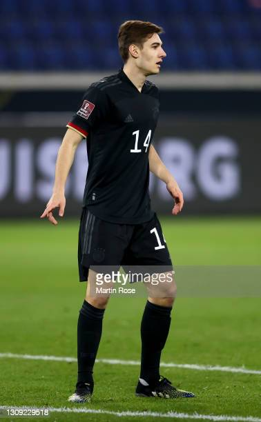 Florian Neuhaus of Germany runs looks on during the FIFA World Cup 2022 Qatar qualifying match between Germany and Iceland on March 25, 2021 in...