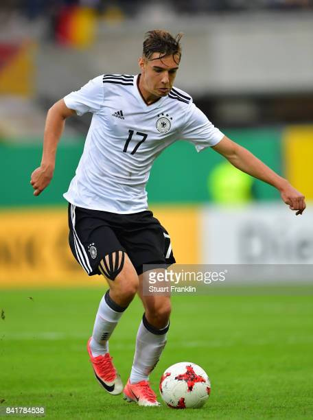 Florian Neuhaus of Germany U21 in action during the International friendly match between Germany U21 and Hungary U21 at the Benteler Arena on...