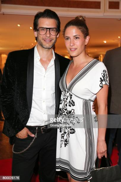 Florian Odendahl and Amanda di Gloria during the opening night party of the Munich Film Festival 2017 at Hotel Bayerischer Hof on June 22 2017 in...