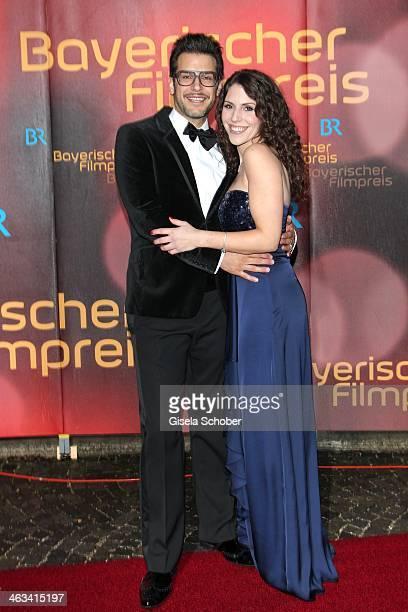 Florian Odendahl and Eva Maria Reichert attend the Bavarian Film Award 2014 at Prinzregententheater on January 17, 2014 in Munich, Germany.
