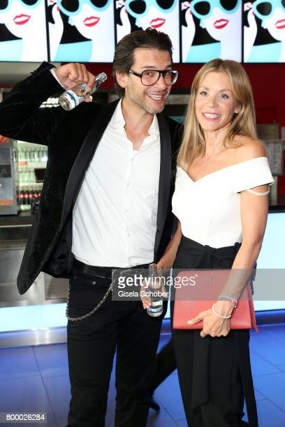 Florian Odendahl and Nina Friederike Gnaedig during the opening night of the Munich Film Festival 2017 at Mathaeser Filmpalast on June 22 2017 in...