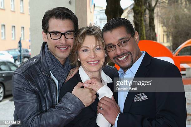 Florian Odendahl Ilona Gruebel and Christofer von Beau attend the 35 years anniversary of the tv show 'Soko 5113' on January 30 2013 in Munich Germany
