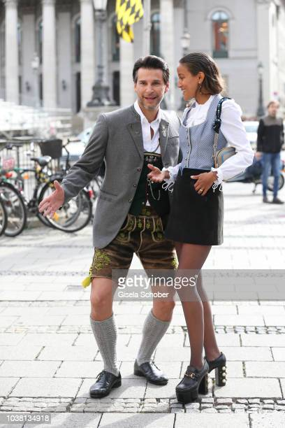 Florian Odendahl Rabea Schif during the 'Fruehstueck bei Tiffany' at Tiffany Store ahead of the Oktoberfest on September 22 2018 in Munich Germany